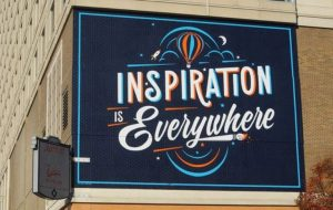 "Typography Mural Ideas ""Inspiration Is Everywhere"""