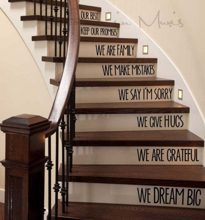 Quotes as Stair Decoration