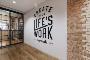 Typography Black and White Mural for Office