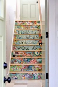 Quote and Picture as Stair Decoration