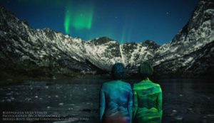 North Lights Bodypainting by Vilija Vitkute