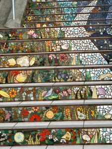 Mural as Stair Decoration