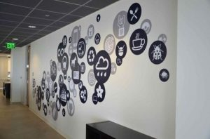 Monochrome Icon Black and White Mural for Office