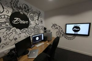 Black and White Mural for Office 2