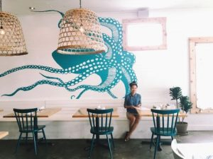 Octopus Mural for Seafood Restaurant Decoration