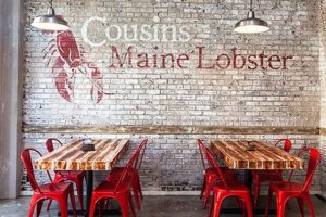Lobster Mural for Seafood Restaurant Decoration