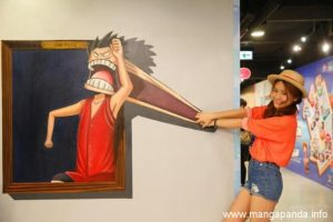 gambar 3dimensi one piece trick art might fool you