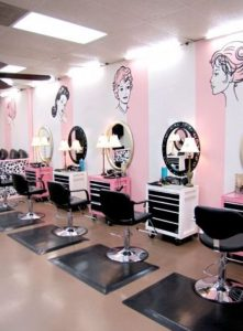 Salon and Barbershop Decoration with Mural and Sticker. Cool!