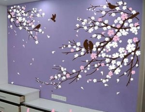 Sakura Mural And Wallpaper Create A Warm Atmosphere In Your Home
