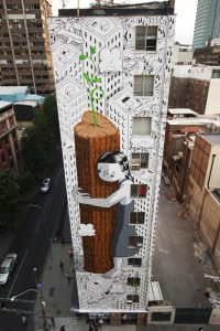 tall building mural