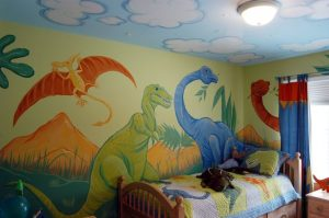 Dinosaur Wall Painting For Boys