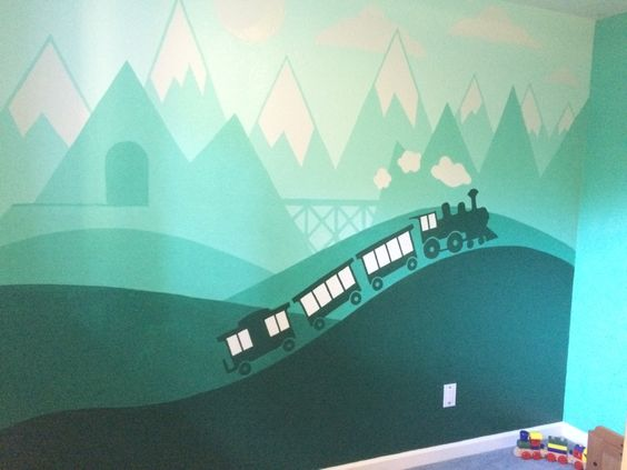train themed room decoration