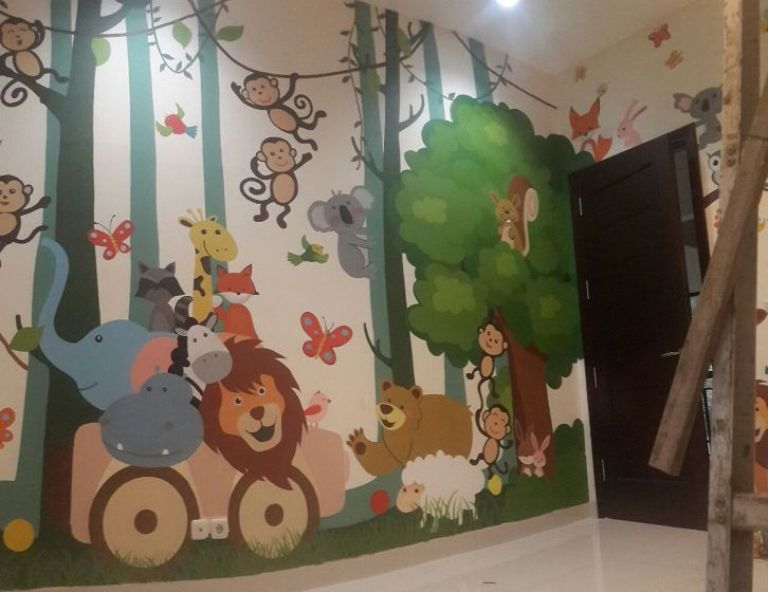 Child's Room Mural, Make Your Children Independent