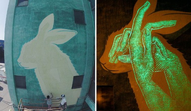 Glow in the Dark Mural, Amazing Art Works from Spanish Artists