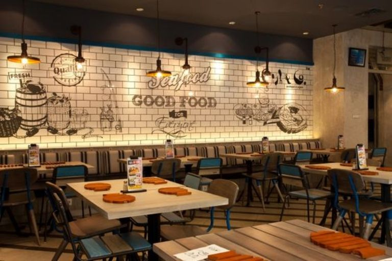 Decoration Restaurant Fast Food : Seafood restaurant decoration a cool for