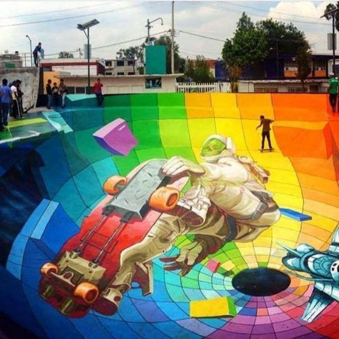 Skate Park Mural, Create an Interesting Skateboard Area