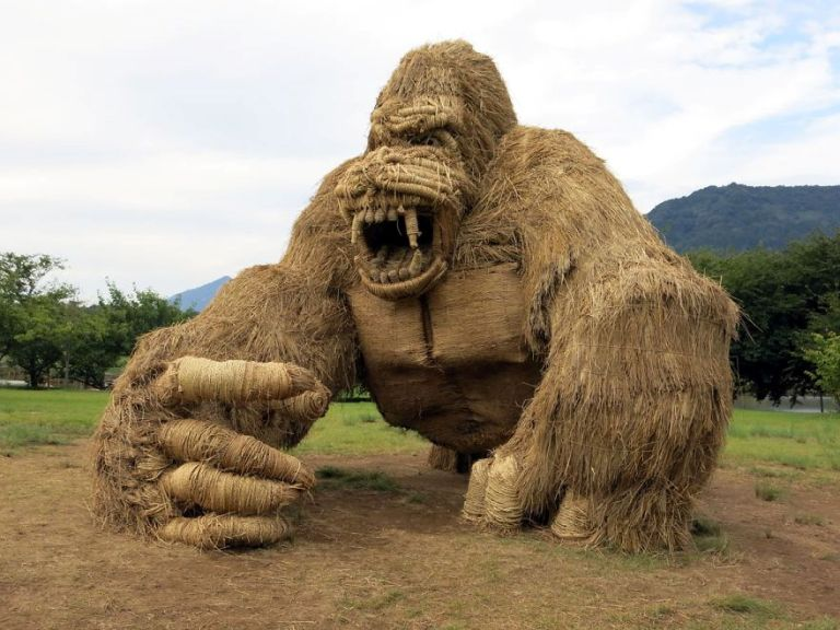 Wara Art Festival with Giant Animal Sculptures Made with Straw