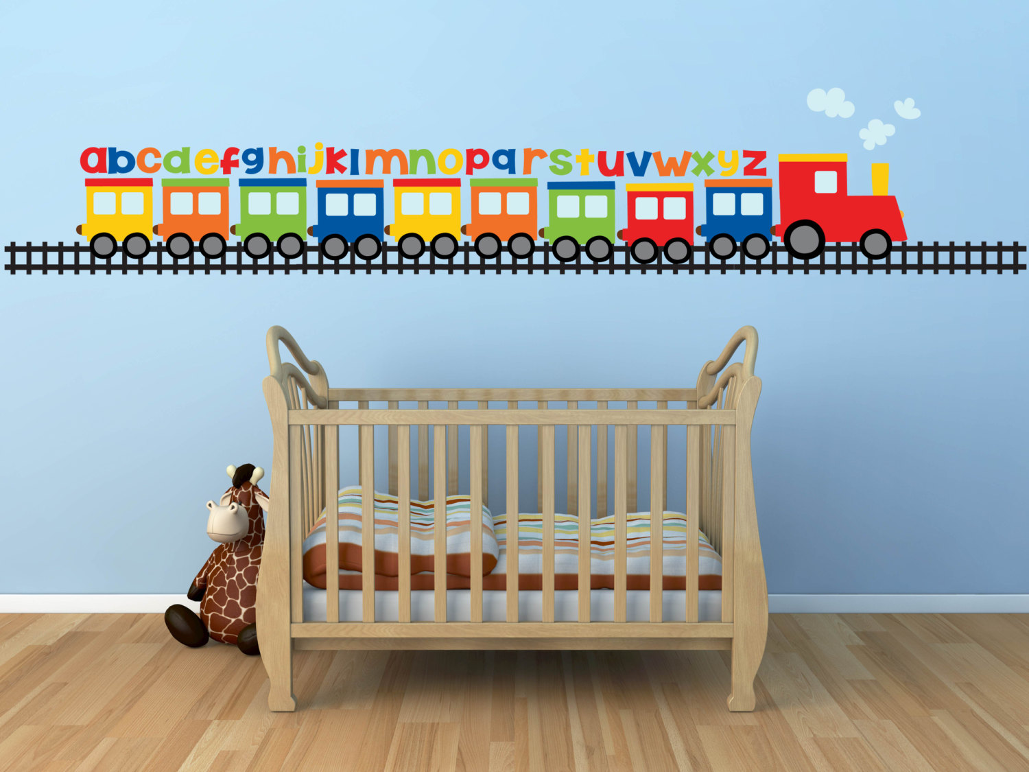 Cute and Interesting Train Themed Room Decoration for Boys