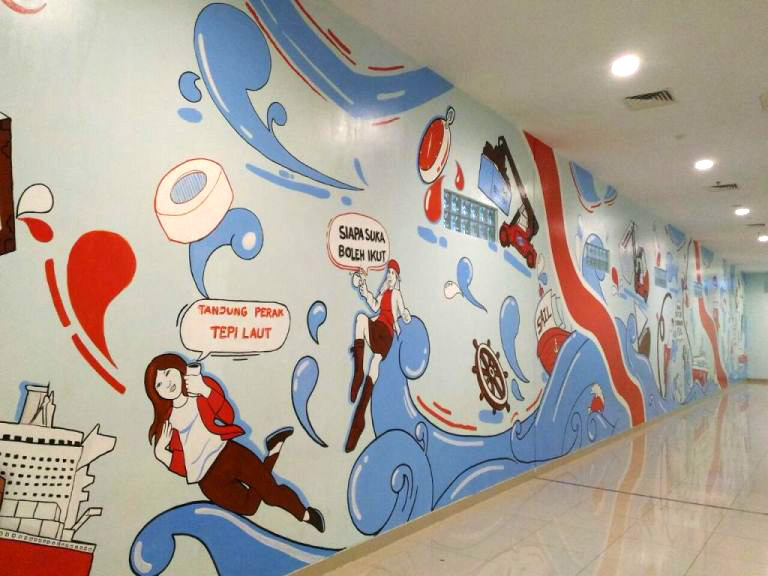 "This Surabaya Mural Project Describes ""Tanjung Perak"" Song Through Such a Unique Mural"