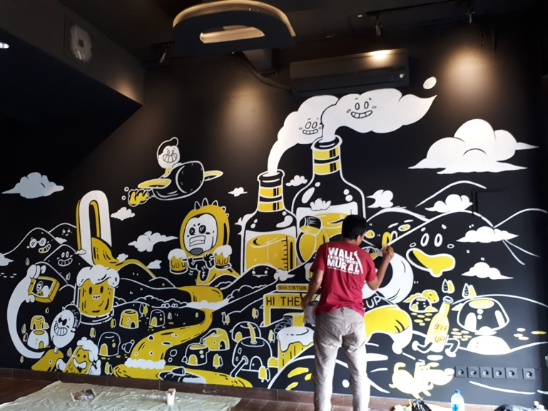 Tangerang Mural Service Project, Unique and Creative Mural Decoration