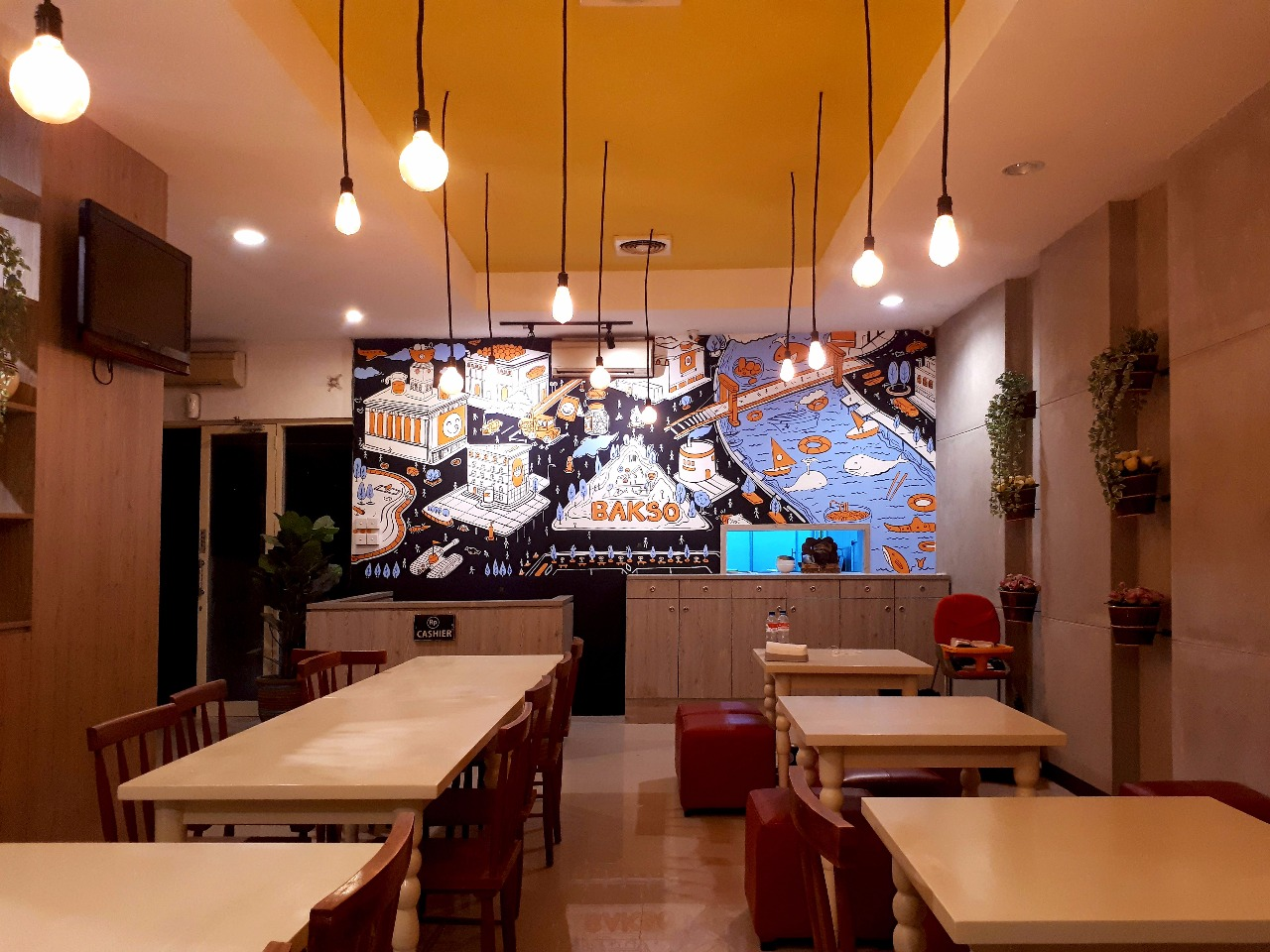 Bali Mural Service, Amazing Doodle Cafe Mural and Realistic Mural