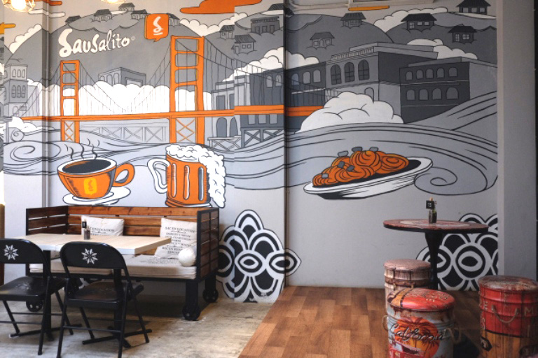 Bekasi Mural Service Project, Create a Modern Restaurant for a Modern Citizens