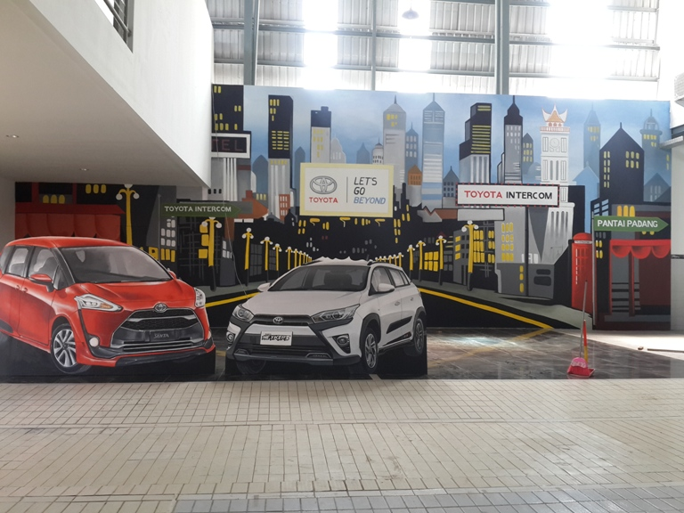 This Padang Mural Service Offers a Unique 3D Photo Booth in a Car Showroom
