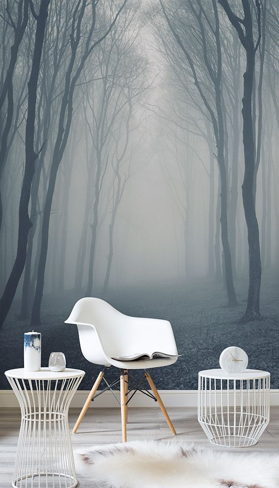 87d53d580973 The Various Beautiful Forest Mural Ideas for Fresh Your Home