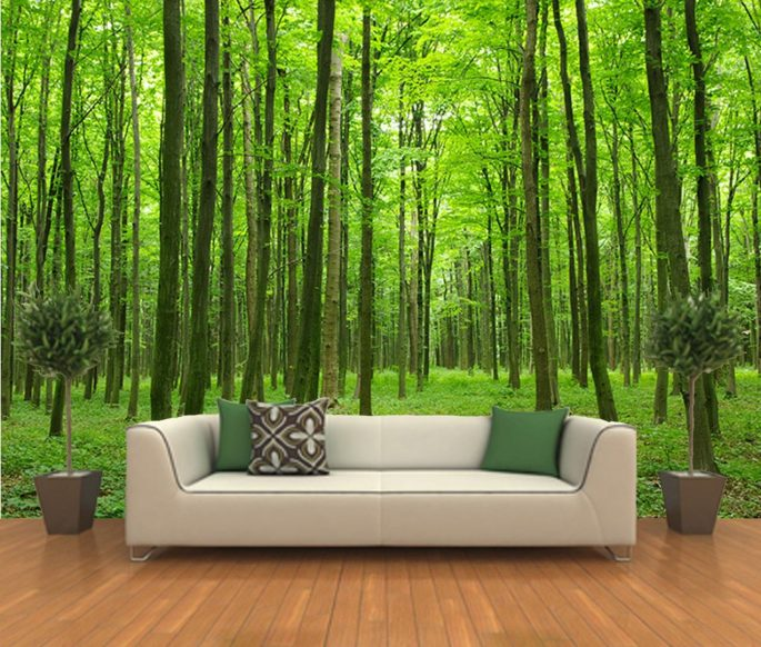 The Various Beautiful Forest Mural Ideas for Fresh Your Home