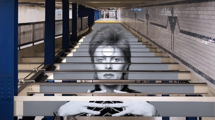 See David Bowie at The Broadway-Lafayette Subway Station