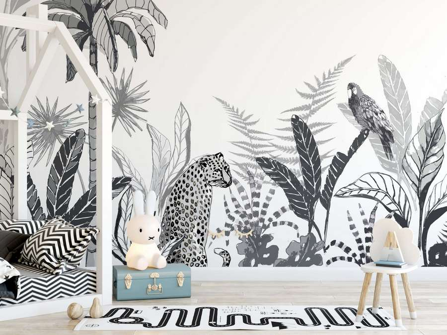 Unique Black & White Mural