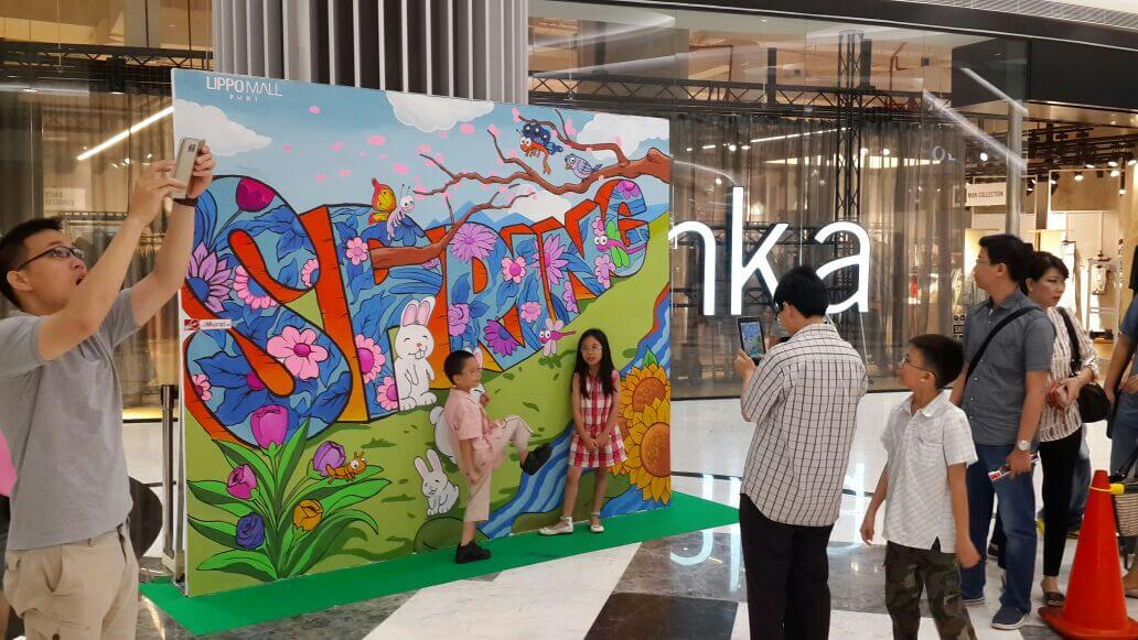 Mural Photobooth Event at Shopping Mall