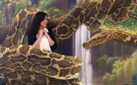 Lukisan 3D Kaa Dari Jungle Book