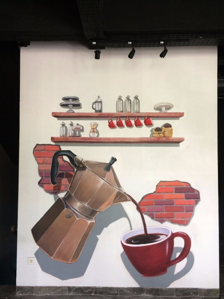Mural 3D At Spatula Coffee