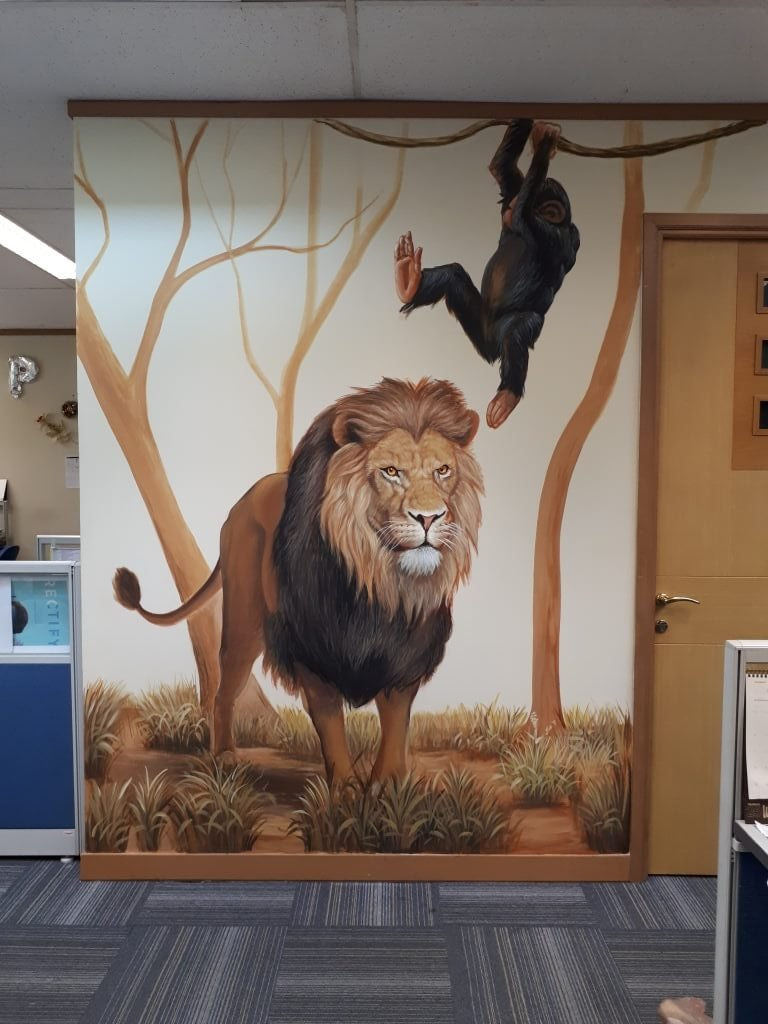 mural singa di fox office