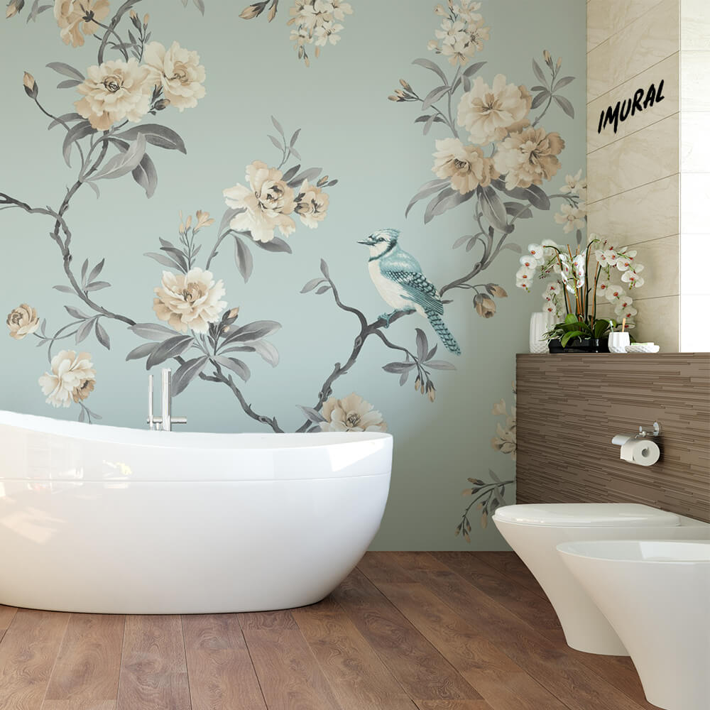 Elegant Bathroom with Chinoiseries