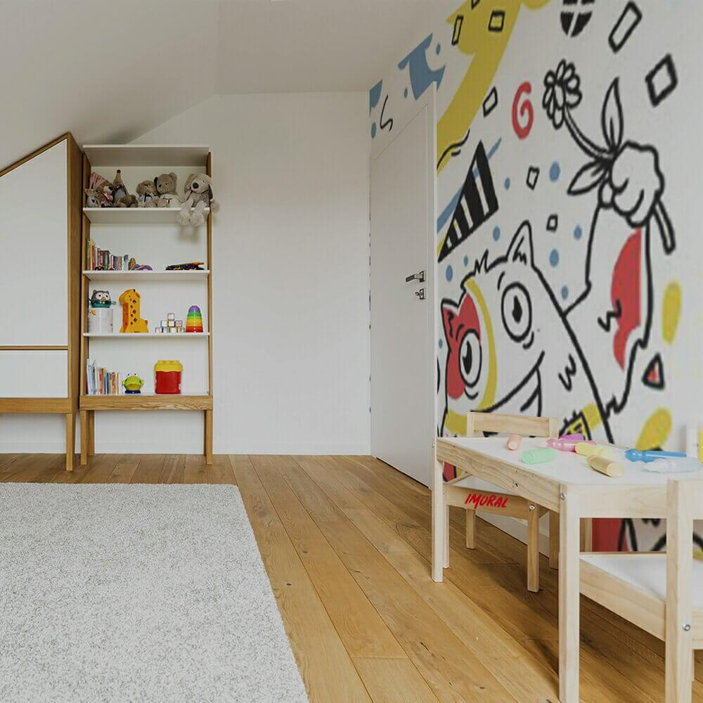 Kids Play Room with Mural