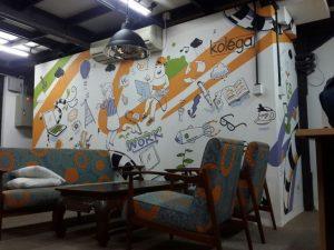 mural untuk dekorasi coworking space