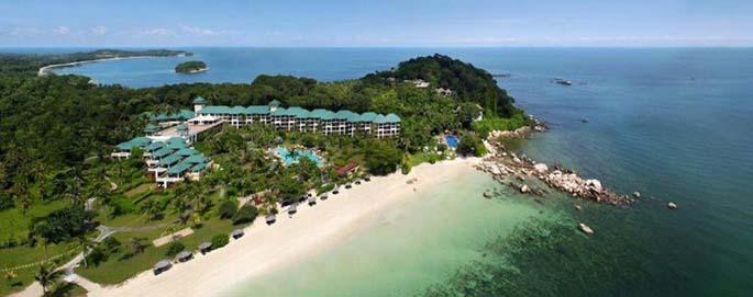 view angsana spa & resort dari atas