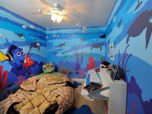 dekorasi kamar anak dengan mural nemo