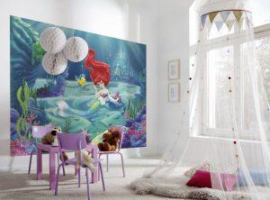 dekorasi kamar anak dengan mural ariel