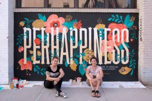mural tipografi perhappiness