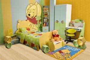 dekorasi kamar anak dengan mural winnie the pooh