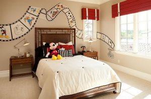 dekorasi kamar anak dengan mural disney dengan budget murah