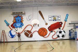 mural untuk lapangan sekolah