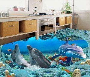 wallpaper underwater untuk dapur