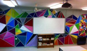 mural untuk ruang kelas
