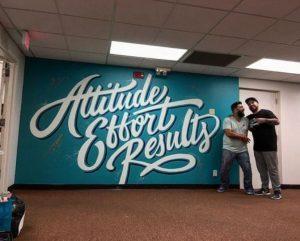 mural tipografi attitude effort resulty