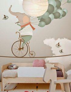 mural sirkus gajah