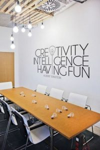 mural kantor untuk ruang meeting
